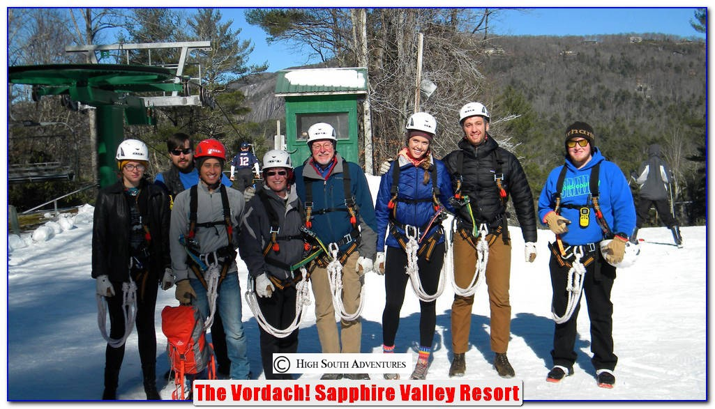 winter zip line on the vordach ski sapphire